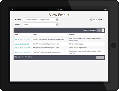 Cell Phone Monitoring: View Emails