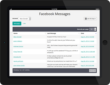 Cell Phone Monitoring: Facebook Messages